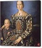Eleonora Ad Toledo Grand Duchess Of Tuscany Canvas Print by Agnolo Bronzino