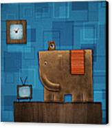 Elephant On The Wall Canvas Print by Gianfranco Weiss