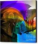 Elephant Walk Canvas Print by Sydne Archambault