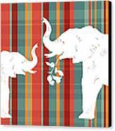 Elephants Share Canvas Print by Alison Schmidt Carson