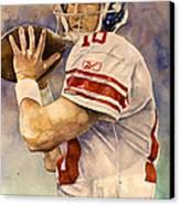 Eli Manning Canvas Print by Michael  Pattison