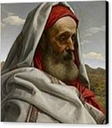 Eliezer Of Damascus Canvas Print by William Dyce