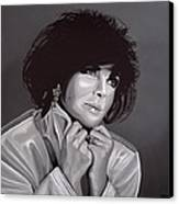 Elizabeth Taylor Canvas Print by Paul Meijering