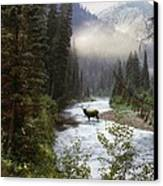 Elk Crossing Canvas Print by Leland D Howard