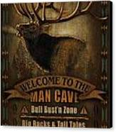 Elk Man Cave Sign Canvas Print by JQ Licensing