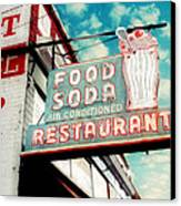 Elliston Place Soda Shop Canvas Print by Amy Tyler