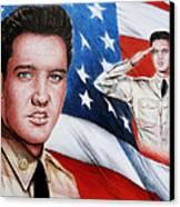 Elvis Patriot  Canvas Print by Andrew Read