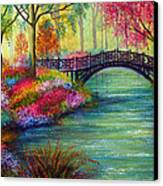 Elysian Bridge Canvas Print by Ann Marie Bone