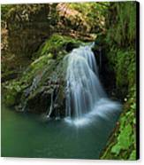 Emerald Waterfall Canvas Print by Davorin Mance