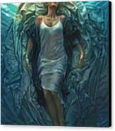 Emerge Painting Canvas Print by Mia Tavonatti
