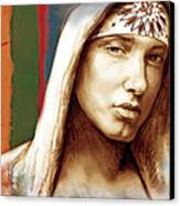 Eminem - Stylised Drawing Art Poster Canvas Print by Kim Wang