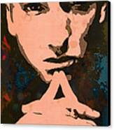 Eminem - Stylised Pop Art Poster Canvas Print by Kim Wang
