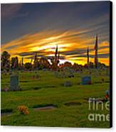 Emmett Cemetery Canvas Print by Robert Bales