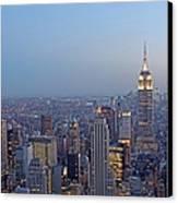 Empire State Building In Midtown Manhattan Canvas Print by Juergen Roth