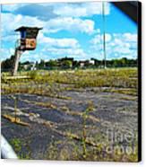 Employee Parking Lot Canvas Print by MJ Olsen