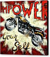 Empower Your Self Canvas Print by Janet  Kruskamp
