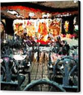 Empty Restaurant Canvas Print by Robert Smith