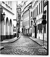 Empty Street In Prague Canvas Print by John Rizzuto