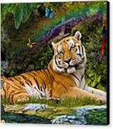 Enchaned Tigress Canvas Print by Alixandra Mullins