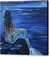 Enchanting Mermaid Canvas Print by Leslie Allen