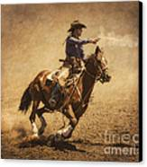 End Of Trail Mounted Shooting Canvas Print by Priscilla Burgers