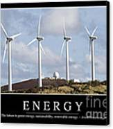 Energy Inspirational Quote Canvas Print by Stocktrek Images