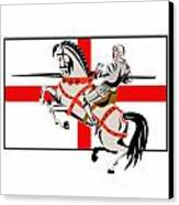English Knight Lance Horse England Flag Side Retro Canvas Print by Aloysius Patrimonio