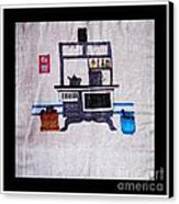 Enterprise Woodstove - Grey Canvas Print by Barbara Griffin