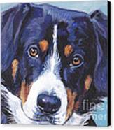 Entlebucher Mountain Dog Canvas Print by Lee Ann Shepard