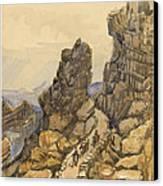 Entrance To The Almanna Gau Circa 1862 Canvas Print by Aged Pixel