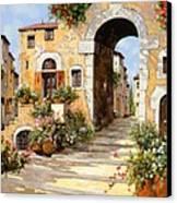 Entrata Al Borgo Canvas Print by Guido Borelli