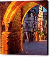 Entry To Riquewihr Canvas Print by Brian Jannsen
