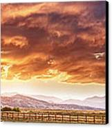Epic Colorado Country Sunset Landscape Panorama Canvas Print by James BO  Insogna