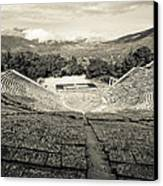 Epidavros Theatre Canvas Print by David Waldo