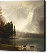 Estes Park Colorado Whytes Lake Canvas Print by Albert Bierstadt