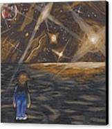 Etestska Lying On Pluto Canvas Print by Keith Gruis