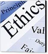 Ethics Concept Canvas Print by Colin and Linda McKie