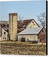 Ethridge Tennessee Amish Barn Canvas Print by Kathy Clark