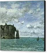 Etretat The Porte D'aval Canvas Print by Eugene Boudin