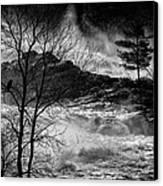 Evening Great Falls Maine Canvas Print by Bob Orsillo