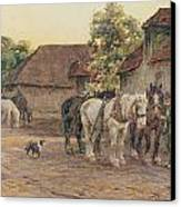 Evening Canvas Print by Joseph Harold Swanwick