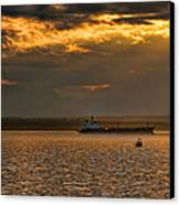 Evening Mariners Puget Sound Washington Canvas Print by Jennie Marie Schell