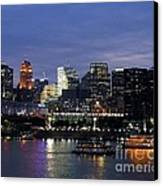 Evening On The River Canvas Print by Mel Steinhauer