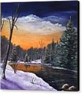 Evening Reflection Canvas Print by Anastasiya Malakhova