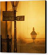 Evening Shadow In Jackson Square Canvas Print by Brenda Bryant
