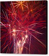 Exploding Fireworks Canvas Print by Garry Gay