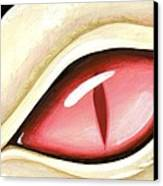 Eye Of The Albino Dragon Canvas Print by Elaina  Wagner