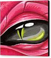 Eye Of The Rubellite Dragon Canvas Print by Elaina  Wagner
