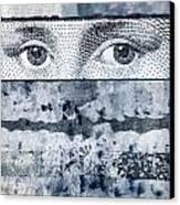 Eyes On Blue Canvas Print by Carol Leigh