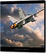 Fa-18d Hornet Canvas Print by Larry McManus